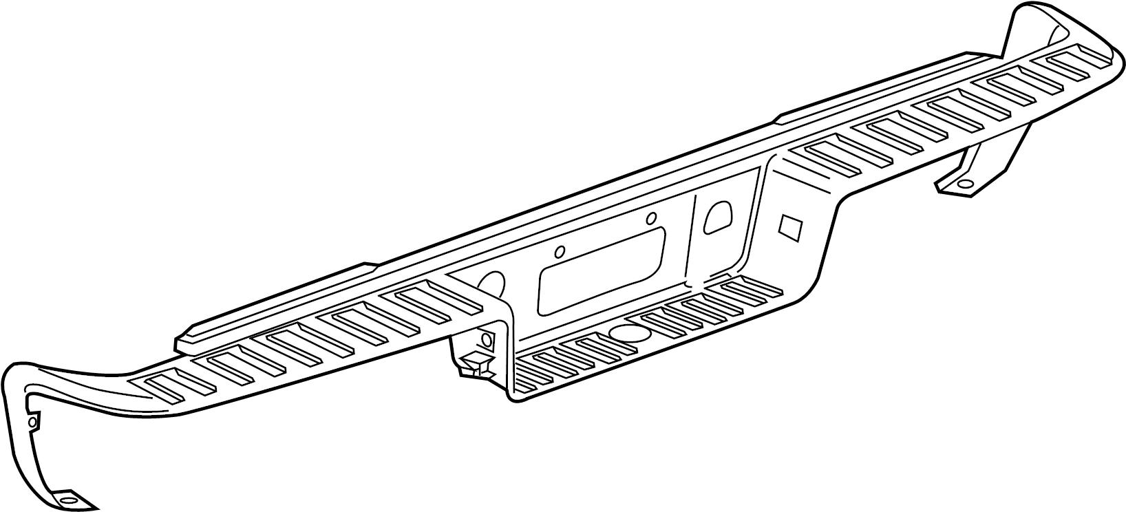 gmc sierra pad  rear bumper step  pad  rr bpr step anthracite