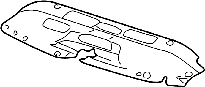 15809932 Gmc Baffle Radiator Air Baffle Rad Air Upr