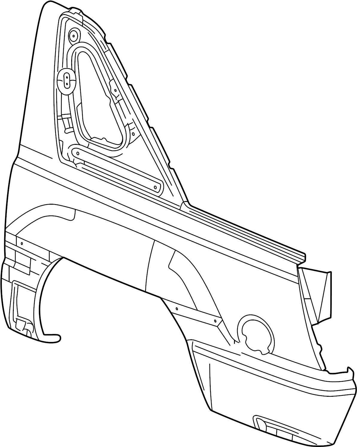 Chevrolet Avalanche Panel  Fuel Door  U0026 Body Side  Panel