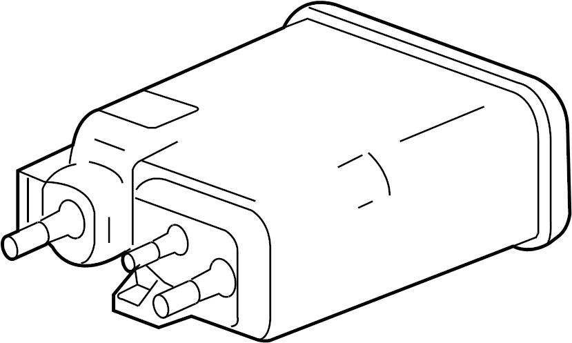 chevrolet silverado canister  fuel tank evaporator  purge