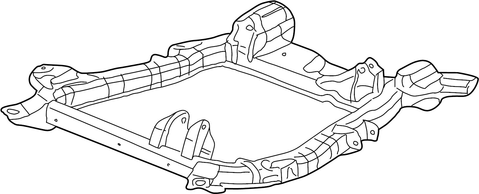Saturn Vue Frame  Chassis  Frame  Drivetrain  U0026 Frt Susp