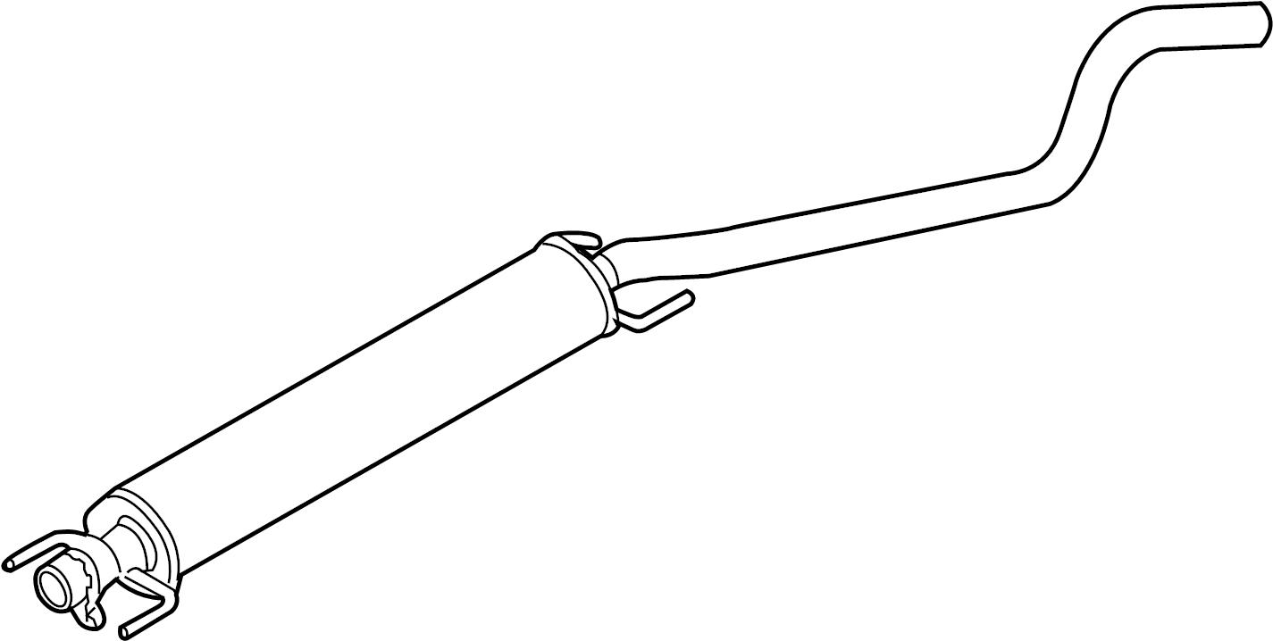 2008 saturn astra muffler  exhaust muffler  resonator  muffler  exh rr  w   exh pipe  chrome