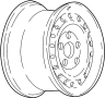 WHEEL. Rear or Spare image for your Buick
